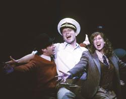 Raul Esparza, Michael Hayden, and Miriam Shor are the three friends in the 2002 Kennedy Center Sondheim Celebration cast