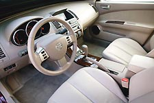 Interior of Nissan Altima