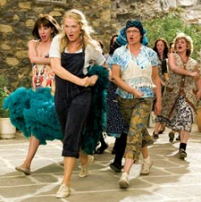 Christine Baranski (left) and Meryl Streep (front) in 'Mama Mia!'