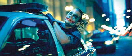 Heath Ledger as The Joker in 'Batman: The Dark Knight'
