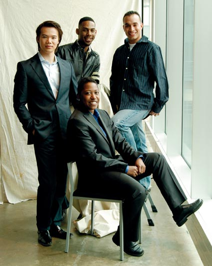 2009 Next Generation Awardees: (clockwise from left) Hoang, Wilson, Ramirez, Bell
