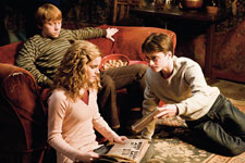Grint, Watson and Radcliffe in 'Harry Potter and the Half-Blood Prince'