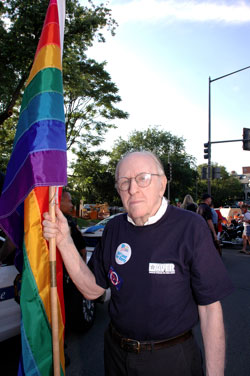 Frank Kameny at Pride Parade 2009