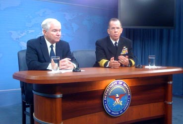 Secretary of Defense Robert Gates and Joint Chiefs Chair Adm. Mike Mullen announce DADT changes