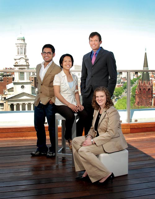 The 2010 Next Generation Awardees (left to right): Harjant Gill,  Hyacinth Alvaran, Andrew Barnett, Amy Loudermilk