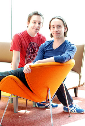 James (left) and Matthew Gardiner