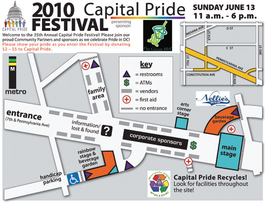 2010 Capital Pride Festival Map