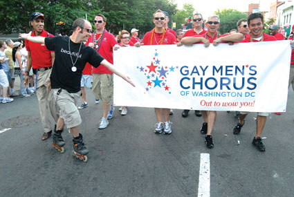 Gay Men's Chorus of Washington, DC in the Capital Pride Parade