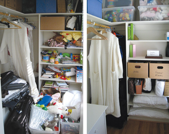 Combating clutter: Before (l) and after (r)