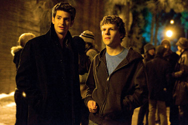 Andrew Garfield (L) and Jesse Eisenberg: The Social Network