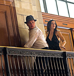 In need of a tweak: Damon and Blunt in 'The Adjustment Bureau'