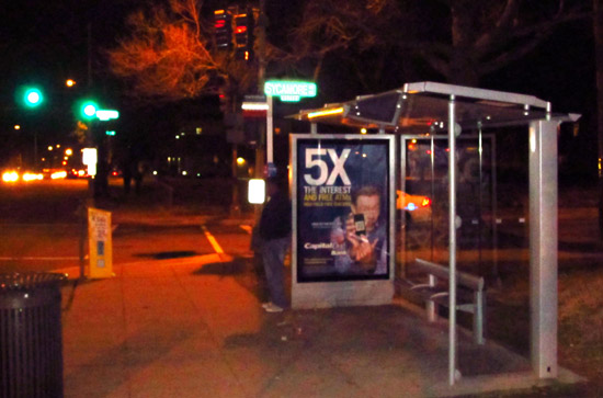 Bus stop at East Capitol and Sycamore NE