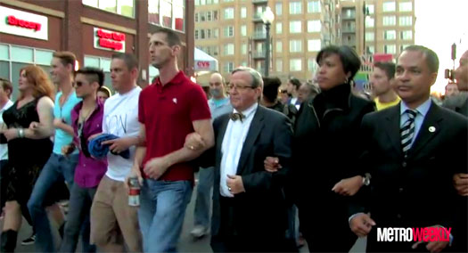 Silent march and vigil held to bring awareness to hate crimes against the gay and transgender residents of D.C.