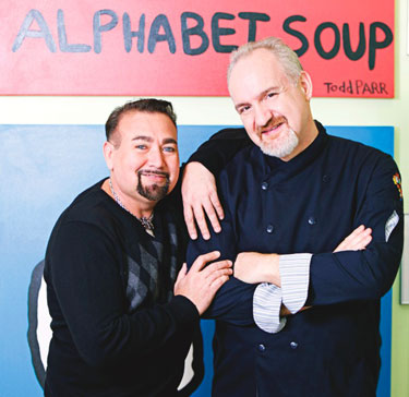 Chef Art Smith (right)