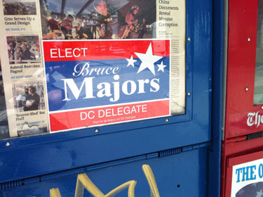 Bruce Majors election placard