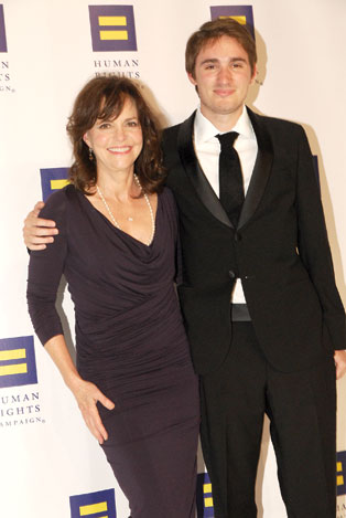 Sally Field and her son Sam