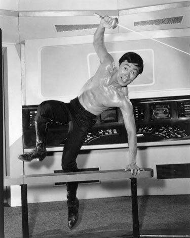 George Takei as Mr. Sulu on the set of ''Star Trek''