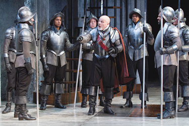 Steve Pickering, as Wallenstein, and the cast