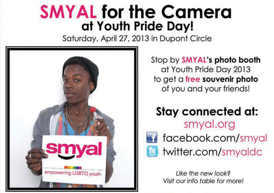 SMYAL for the Camera at Youth Pride Day! Stop by our Photo Booth.