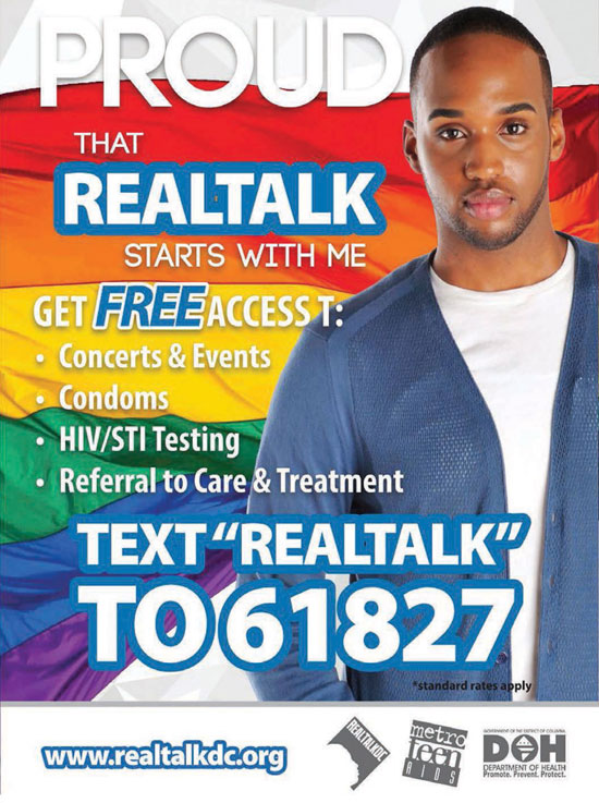 RealTalkDC.org -- Text ''REALTALK'' to 61827