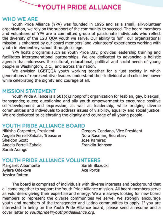 Youth Pride Alliance: Who We Are