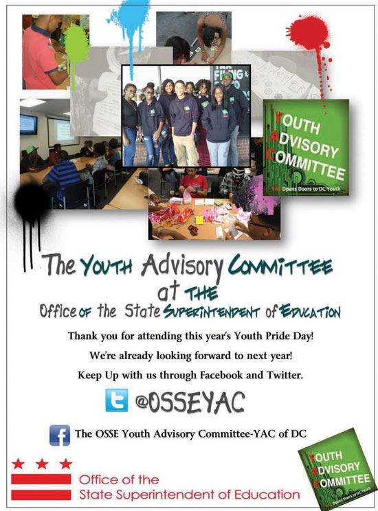Youth Advisory Committee at the Office of the State Superintendent of Education - Twitter @OSSEYAC