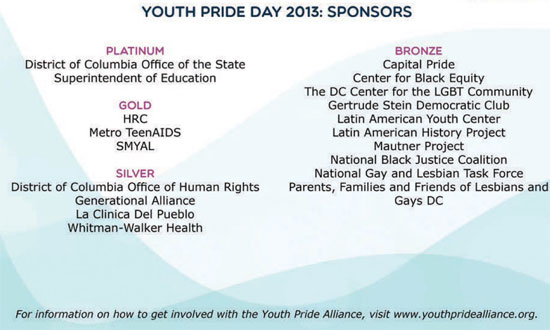 Youth Pride Day Sponsors
