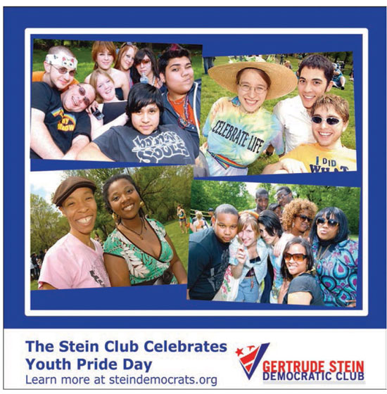 The Stein Club Celebrates Youth Pride Day - http://www.steindemocrats.org