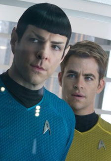 Star Trek: Into Darkness. Quinto and Pine as Spock and Kirk