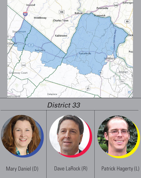 District 33: Daniel, LaRock, Hagerty