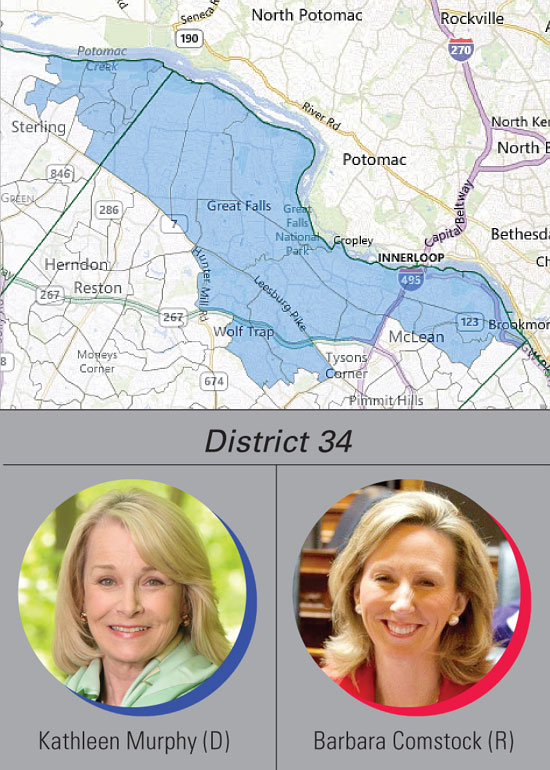 District 34: Murphy, Comstock
