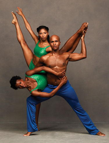 Alvin Ailey American Dance Theater's Rachael McLaren Jacqueline Green and Glenn Allen Sims