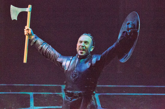 King Richard Drew Cortese in Folger Theatre's Richard III