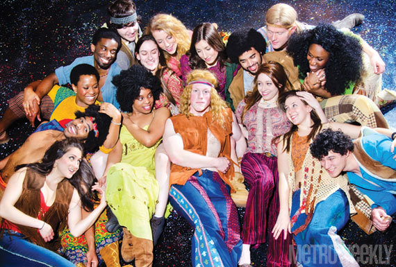 Cast of ''Hair'' at Andrew Keegan Theatre