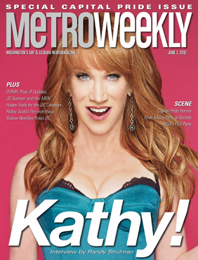 Kathy Griffin on the cover of Metro Weekly