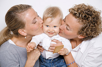 Lesbian couple and kid