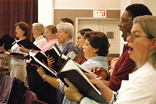 Members of the LGCW in rehearsal. Photo by Todd Franson
