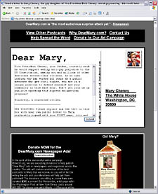 Home page of DearMary.com site