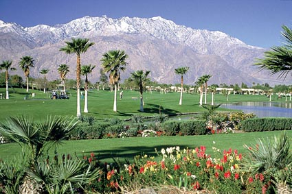 Green acres: A Palm Springs golf course Photo by Palm Springs Bureau of Tourism