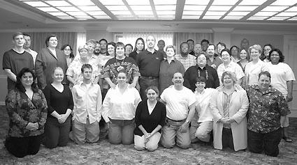 LEAGUE members at a recent national leadership meeting