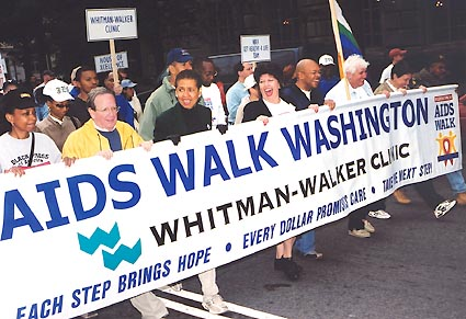 AIDS Walk 2003 led by Councilmember Graham, Delegate Norton, Mayor Williams, W-WC Director Baker and Councilmember Schwartz