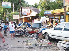 Although some areas were spared, the tsunamis inflicted major damage on Phuket's Patong beach, a popular gay tourist destination Photo by Connect
