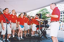 The Gay Men's Chorus performs at the Capital Pride Arts Stage in 2002 Photo by Randy Shulman