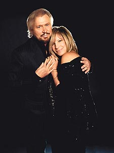 Together again: Gibb and Streisand