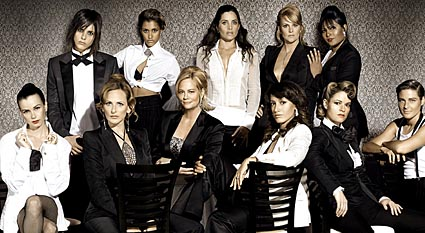 Cybill Shepard center with cast of 'The L Word' Photo by Showtime Networks, Inc