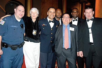Lt. Alberto Jova, third from left, with members of the GLLU at the SLDN National Dinner Photo by Ward Morrison