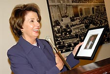 Nancy Pelosi Photo by Ward Morrison