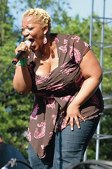 Davis performing at the 2005 Capital Pride Festival Photo by Henry Linser/Courtesy Metro Weekly