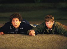 Boy friends: Hill and Cera
