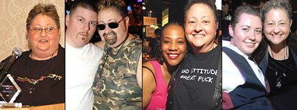 Cheryl Spector and friends as captured in just a few of Metro Weekly's archived Scene events